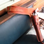 Quick-draw holster and cartrige belt