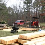 Milling the logs