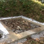 The footing with French Drain installed.